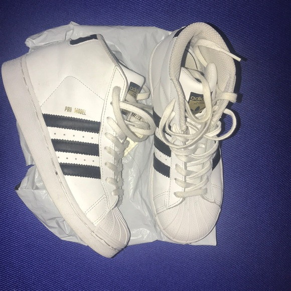Adidas Shoes Promodel High Size 2 Preschool Poshmark